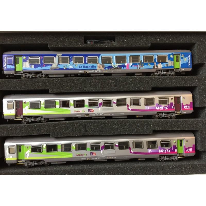 LS MODELS 41200 SET DE 3 VOITURES A10 +B10+B10, LA ROCHELLE ET INTERCITES