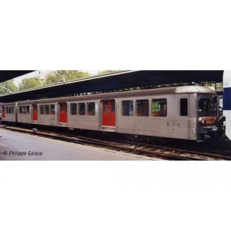 (RESERVATION) HJ4152 SET DE 3 VOITURES VOYAGEURS RIB 70 SNCF LIVREE D'ORIGINE PORTES ROUGES - (A...
