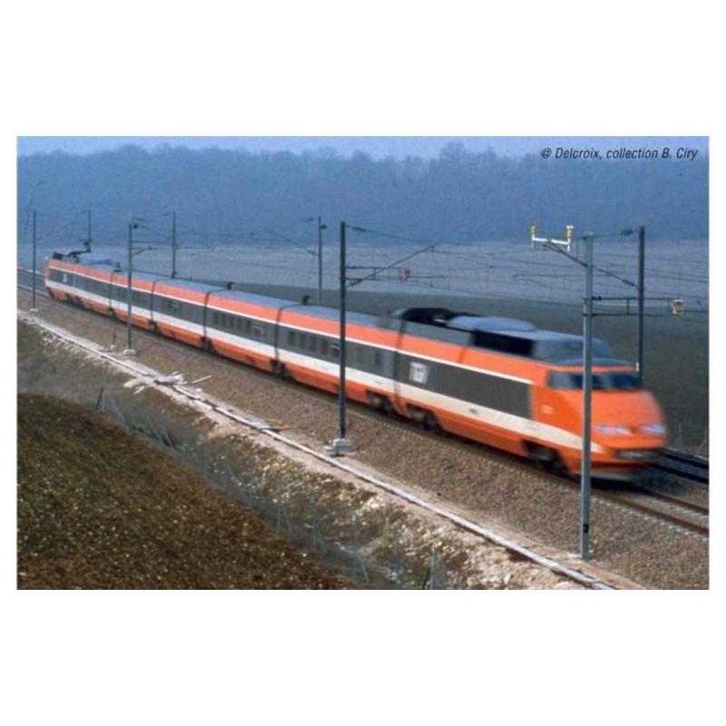 (RESERVATION) HJ 3011 SET DE 3 VOITURES INTERMEDIAIRE TGV SUD EST RECORD DU MONDE 26 FEVRIER 1981...