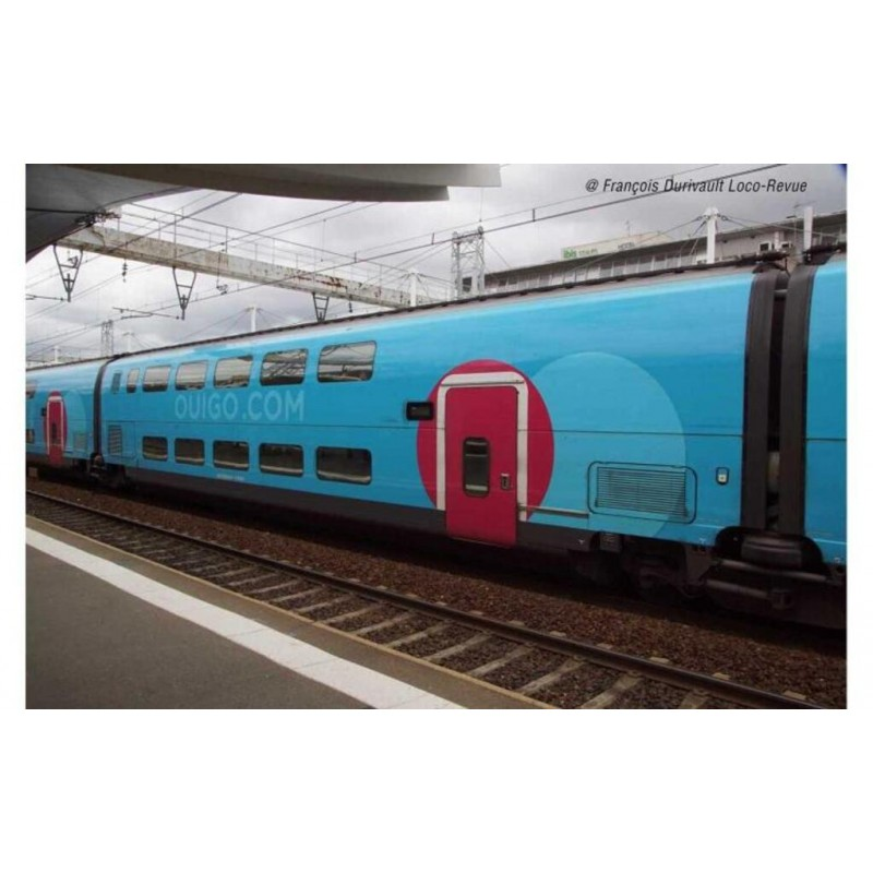 (RESERVATION) HJ 3010 SET DE 3 VOITURE INTERMEDIAIRES TGV DUPLEX OUIGO - (A RESERVER)