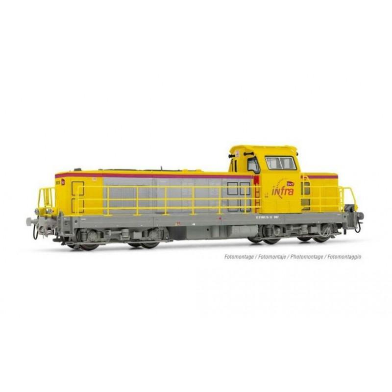 (RESERVATION) HJ 2396 LOCOMOTIVE DIESEL BB 669216 INFRA SNCF - ANALOGIQUE - (A RESERVER)