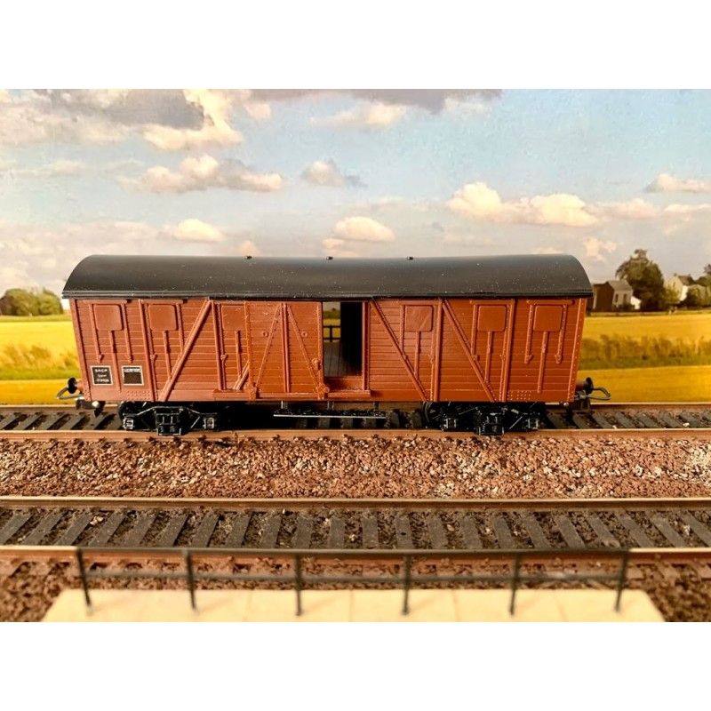 (OCCASION) HORNBY-ACHO MECCANO REF 7240 WAGON  COUVERT A BOGIES
