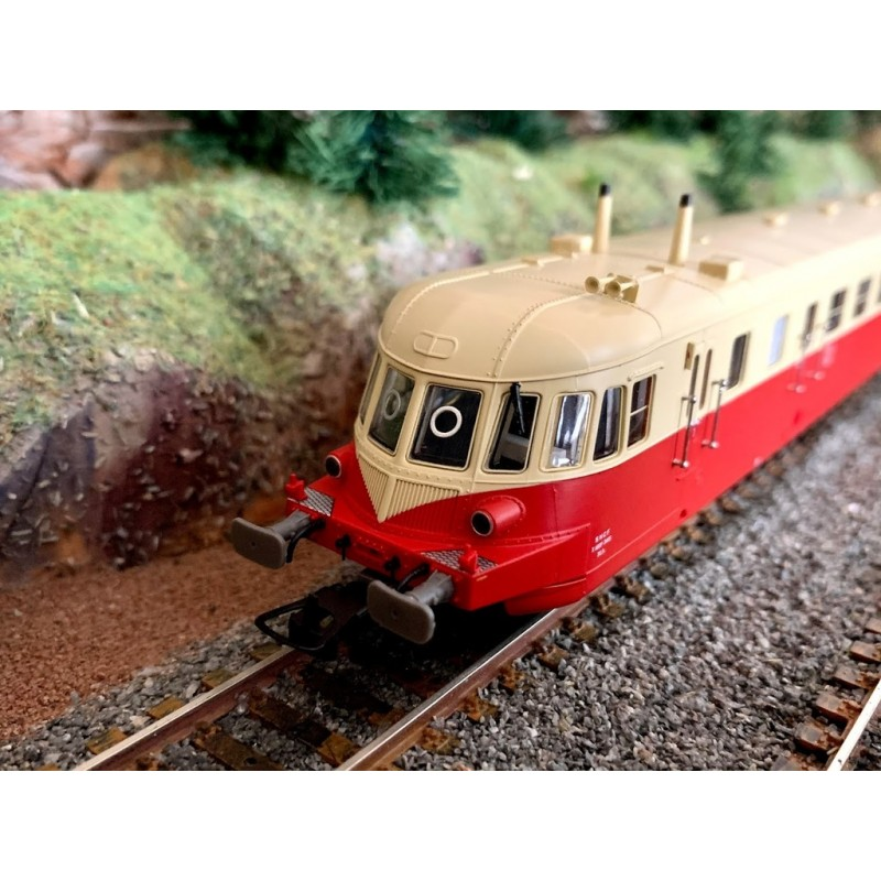 JOUEF HJ2408S ABJ 2 SNCF LIVREE ROUGE ET BEIGE TOIT CREME - DCC SOUND-