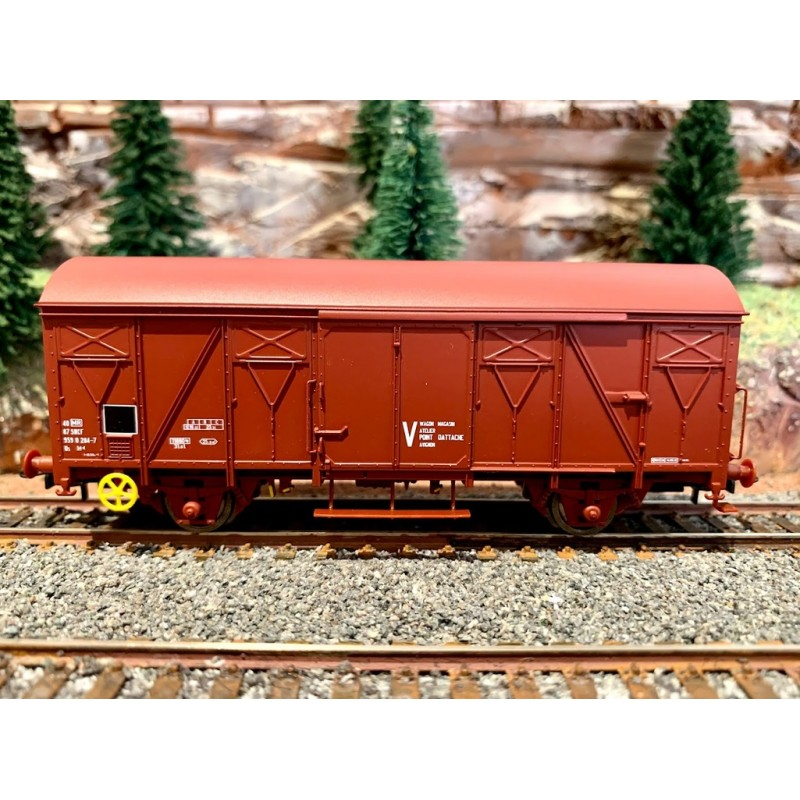 JOUEF HJ 6190   WAGON COUVERT MARQUAGE V - SNCF -