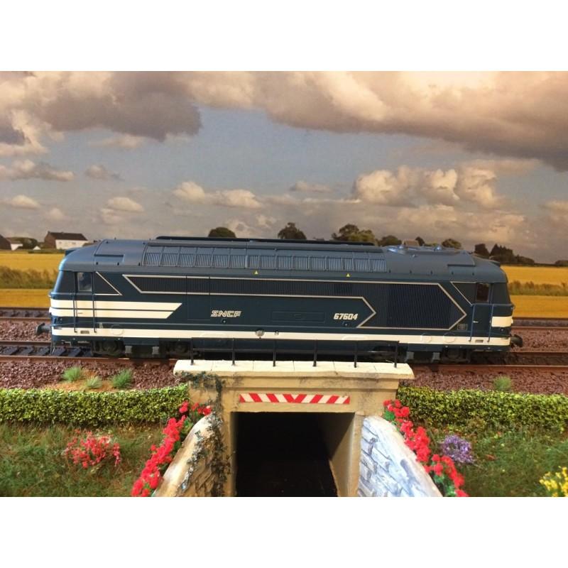 JOUEF HJ 2340 LOCOMOTIVE DIESEL SNCF, BB 67604, LOGO NOUILLE